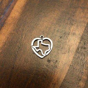James Avery Texas State Love Heart Silver Bracelet